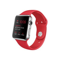 Apple Watch Original - 42 mm - stainless steel - smart watch with sport band - red - band size 140-210 mm - S/M/L - Wi-Fi, Bluetooth - 50 g