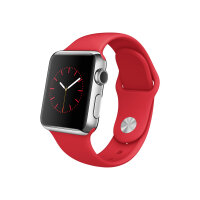 Apple Watch Original - 38 mm - stainless steel - smart watch with sport band - red - band size 130-200 mm - S/M/L - Wi-Fi, Bluetooth - 40 g