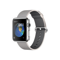 Apple Watch Original - 42 mm - stainless steel - smart watch with band - woven nylon - pearl - band size 145-215 mm - Wi-Fi, Bluetooth - 50 g