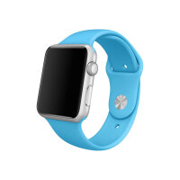 Apple Watch Sport - 42 mm - silver aluminium - smart watch with sport band - blue - band size 140-210 mm - S/M/L - Wi-Fi, Bluetooth - 30 g