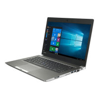 "Toshiba Portege Z30-C-155 - Ultrabook  Laptop - Core i7 6500U / 2.5 GHz - Win 7 Pro (includes Win 10 Pro Licence) - 8 GB RAM - 256 GB SSD - 13.3"" 1920 x 1080 (Full HD) - HD Graphics 520 - Wi-Fi - steel gray metallic - Up to 11 Hours Battery Life"
