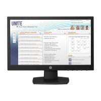 "HP v197 - LED Computer Monitor - 18.5"" (18.5"" viewable) - 1366 x 768 - TN - 200 cd/m² - 600:1 - 5 ms - DVI-D, VGA - black"