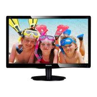 "Philips V-line 200V4QSBR - LED Computer Monitor - 20"" (19.53"" viewable) - 1920 x 1080 Full HD (1080p) - MVA - 250 cd/m² - 3000:1 - 20 ms - DVI-D, VGA - black gloss textured"