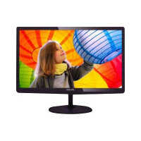 "Philips E-line 247E6QDAD - LED Computer Monitor - 23.6"" - 1920 x 1080 Full HD (1080p) - ADS-IPS - 250 cd/m² - 1000:1 - 5 ms - HDMI, DVI-D, VGA - speakers - glossy cherry black"