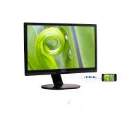"Philips Brilliance P-line 241P6EPJEB - LED Computer Monitor - 24"" (23.8"" viewable) - 1920 x 1080 Full HD (1080p) - ADS-IPS - 250 cd/m² - 1000:1 - 5 ms - HDMI, DVI-D, VGA, DisplayPort, MHL - speakers - textured black"