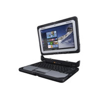 """Panasonic Toughbook CF-20 - Tablet - with keyboard dock - Core m5 6Y57 / 1.1 GHz - Win 7 Pro (includes Win 10 Pro Licence) - 8 GB RAM - 256 GB SSD - 10.1"""" IPS touchscreen 1920 x 1200 - HD Graphics 515 - Wi-Fi, Bluetooth - kbd: British - rugged"""