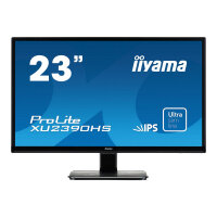 "Iiyama ProLite XU2390HS-1 - LED Computer Monitor - 23"" (23"" viewable) - 1920 x 1080 Full HD (1080p) - IPS - 250 cd/m² - 1000:1 - 4 ms - HDMI, DVI-D, VGA - speakers - black"