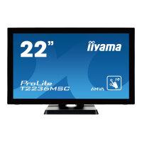 "Iiyama ProLite T2236MSC-B2 - LED Computer Monitor - 22"" (21.5"" viewable) - touchscreen - 1920 x 1080 Full HD (1080p) - A-MVA - 250 cd/m² - 3000:1 - 8 ms - HDMI, DVI-D, VGA - speakers - black"
