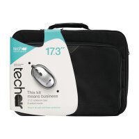 "Tech air 17.3"" Laptop Bag with wired mouse - Notebook accessories bundle - 17.3"" - black"