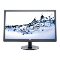 "AOC Value e2460Sh - LED Computer Monitor - 24"" (24"" viewable) - 1920 x 1080 Full HD (1080p) - TN - 250 cd/m² - 1000:1 - 1 ms - HDMI, DVI-D, VGA - speakers - black"