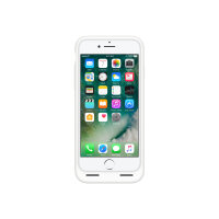 Apple Smart - Battery case back cover for mobile phone - silicone, elastomer - white - for iPhone 7