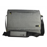"techair EVO Magnetic Laptop Messenger - Notebook carrying case - Laptop Bag - 15.6"" - grey texturised"