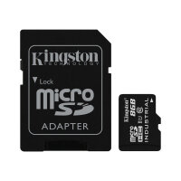 Kingston - Flash memory card (microSDHC to SD adapter included) - 8 GB - UHS Class 1 / Class10 - microSDHC UHS-I