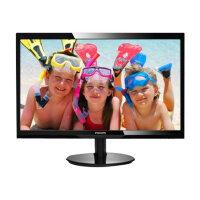 "Philips V-line 246V5LDSB - LED Computer Monitor - 24"" - 1920 x 1080 Full HD (1080p) - 250 cd/m² - 1000:1 - 1 ms - HDMI, DVI-D, VGA - textured black, glossy black"
