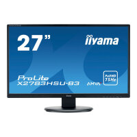 "Iiyama ProLite X2783HSU-B3 - LED Computer Monitor - 27"" - 1920 x 1080 Full HD (1080p) - A-MVA+ - 300 cd/m² - 3000:1 - 4 ms - HDMI, VGA, DisplayPort - speakers - black"