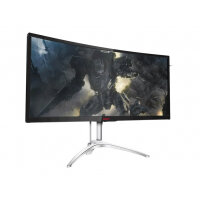 "AOC Gaming AGON series AG352QCX - LCD Computer Monitor - curved - 35"" (35"" viewable) - 2560 x 1080 - MVA - 300 cd/m² - 2000:1 - 4 ms - HDMI, MHL, DVI, DisplayPort, VGA - speakers - black/silver"