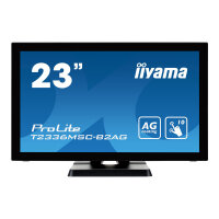 "Iiyama ProLite T2336MSC-b2AG - LED Computer Monitor - 23"" - touchscreen - 1920 x 1080 Full HD (1080p) - IPS - 250 cd/m² - 1000:1 - 5 ms - HDMI, DVI-D, VGA - speakers - black"