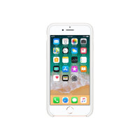 Apple - Back cover for mobile phone - silicone - white - for iPhone 7, 8