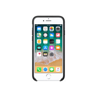 Apple - Back cover for mobile phone - leather - black - for iPhone 7, 8