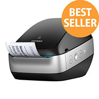 DYMO LabelWriter Wireless - Label printer - thermal paper - Roll (6.2 cm) - 600 x 300 dpi - up to 71 labels/min - capacity: 1 roll - USB 2.0, Wi-Fi(n) - black