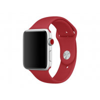 Apple 42mm Sport Band - Small/Medium & Medium/Large - watch strap - 140-210 mm - red - for Watch (42 mm)