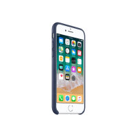 Apple - Back cover for mobile phone - leather - midnight blue - for iPhone 7, 8