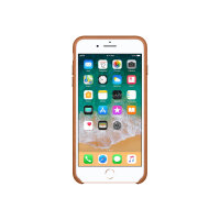 Apple - Back cover for mobile phone - leather - saddle brown - for iPhone 7 Plus, 8 Plus