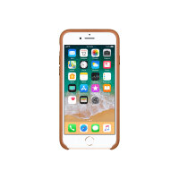 Apple - Back cover for mobile phone - leather - saddle brown - for iPhone 7, 8