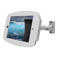 "Compulocks Space Swing Arm - iPad 12.9"" Wall Mount - White - Mounting kit (mounting adapter, anti-theft enclosure) for Apple iPad Pro (Tilt & Swivel) - lockable - high-grade aluminium - white - for Apple 12.9-inch iPad Pro"