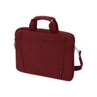 "Dicota Slim Case BASE - Notebook carrying case - Laptop Bag - 13"" - 14.1"" - red"
