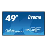 "Iiyama ProLite LH4982SB-B1 - 49"" Class (48.5"" viewable) LED display - digital signage - 1080p (Full HD) 1920 x 1080 - black"