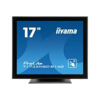 "Iiyama ProLite T1732MSC-B1AG - LCD Computer Monitor - 17"" - touchscreen - 1280 x 1024 - TN - 225 cd/m² - 1000:1 - 5 ms - DVI-D, VGA - speakers - black"