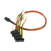 LSI - SAS internal cable - 4-Lane - 4 PIN internal power, 36 pin 4i Mini MultiLane (M) to 29 pin internal SAS (SFF-8482) (F) - 60 cm