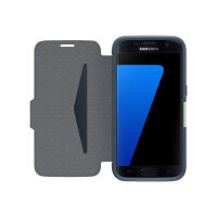 OtterBox Strada Samsung Galaxy S7 - Flip cover for mobile phone - leather - night cannon blue - for Samsung Galaxy S7