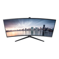 "Samsung CH89 Series C34H890WJU - LED Computer Monitor - curved - 34"" - 3440 x 1440 - VA - 300 cd/m² - 3000:1 - 4 ms - HDMI, DisplayPort, USB-C - dark silver"