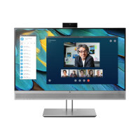 """HP EliteDisplay E243m - LED Computer Monitor - 23.8"""" (23.8"""" viewable) - 1920 x 1080 Full HD (1080p) - IPS - 250 cd/m² - 1000:1 - 5 ms - HDMI, VGA, DisplayPort - speakers - black (rear cover), silver (speakers, bezel and stand)"""