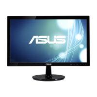 "ASUS VS207DF - LED Computer Monitor - 19.5"" - 1366 x 768 - TN - 200 cd/m² - 1000:1 - 5 ms - VGA - black"