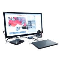 "Sharp BIG PAD PN-40TC1 - 40"" Class (39.5"" viewable) LED display - interactive communication - with touchscreen - 1080p (Full HD) 1920 x 1080 - edge-lit - black"