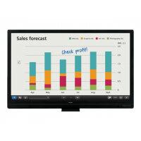 "Sharp BIG PAD PN-65SC1 - 65"" Class LED display - interactive communication - with touchscreen - 1080p (Full HD) 1920 x 1080 - edge-lit - black"