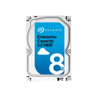 "Seagate Enterprise Capacity 3.5 HDD ST8000NM0105 - Hard drive - encrypted - 8 TB - internal - 3.5"" - SATA 6Gb/s - 7200 rpm - buffer: 256 MB - Self-Encrypting Drive (SED)"