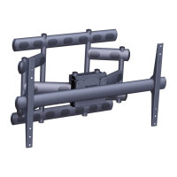 "Vogel's PFW 6855 - Wall mount for LCD / plasma panel - black - screen size: 65""-85"""