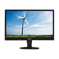 "Philips S-line 220S4LYCB - LED Computer Monitor - 22"" - 1680 x 1050 - 250 cd/m² - 1000:1 - 5 ms - DVI-D, VGA, DisplayPort - textured black"