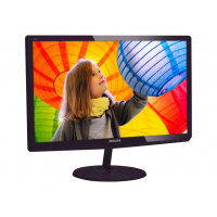 "Philips E-line 247E6QDSD - LED Computer Monitor - 23.6"" - 1920 x 1080 Full HD (1080p) - ADS-IPS - 250 cd/m² - 1000:1 - 5 ms - HDMI, DVI-D, VGA - glossy cherry black"