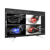 """Philips Brilliance BDM4350UC - LED Computer Monitor - 43"""" (42.51"""" viewable) - 3840 x 2160 4K - IPS - 300 cd/m² - 1200:1 - 5 ms - 2xHDMI(MHL), 2xDisplayPort, VGA - speakers - glossy black with textured back cover, textured silver stand"""