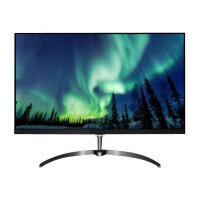 "Philips E-line 276E8FJAB - LED Computer Monitor - 27"" - 2560 x 1440 QHD - IPS - 350 cd/m² - 1000:1 - 4 ms - HDMI, VGA, DisplayPort - speakers - black, gun metal"