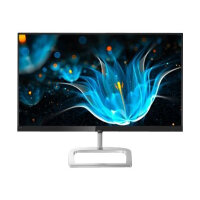"Philips E-line 246E9QJAB - LED Computer Monitor - 24"" (23.8"" viewable) - 1920 x 1080 Full HD (1080p) - IPS - 1000:1 - 5 ms - HDMI, VGA, DisplayPort - speakers - gloss silver, black glossy"