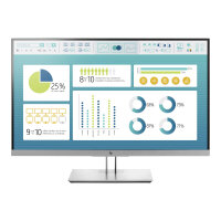 """HP EliteDisplay E273 - LED Computer Monitor - 27"""" (27"""" viewable) - 1920 x 1080 Full HD (1080p) - IPS - 250 cd/m² - 1000:1 - 5 ms - HDMI, VGA, DisplayPort - black (rear cover), silver (front bezel, frame and stand)"""
