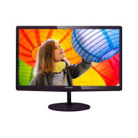 "Philips E-line 227E6LDAD - LED Computer Monitor - 22"" (21.5"" viewable) - 1920 x 1080 Full HD (1080p) - 250 cd/m² - 1000:1 - 2 ms - HDMI, DVI-D, VGA, MHL - speakers - glossy cherry black"