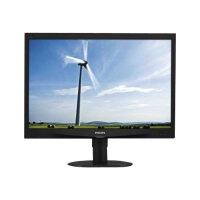 "Philips S-line 240S4QYMB - LED Computer Monitor - 24"" - 1920 x 1200 - IPS - 250 cd/m² - 1000:1 - 5 ms - DVI-D, VGA, DisplayPort - speakers - textured black"