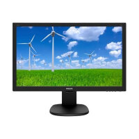 """Philips S-line 243S5LHMB - LED Computer Monitor - 24"""" (23.6"""" viewable) - 1920 x 1080 Full HD (1080p) - 250 cd/m² - 1000:1 - 1 ms - HDMI, VGA - speakers - black with hairline texture"""